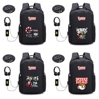 Hot game Cuphead backpack USB Charge Anti theft Laptop Backpack student book Bags men women Backpacks 22 style