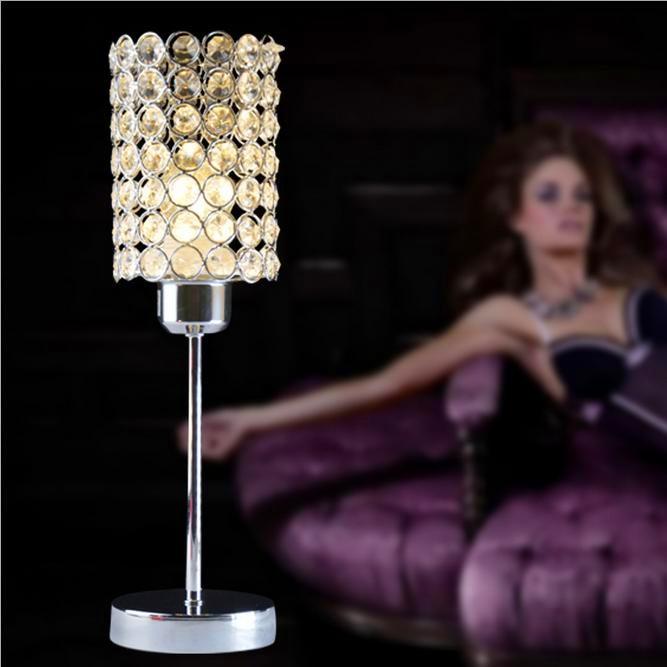 ФОТО Crystal Table Lamp Modern Beauty Art High Grade Eyeshield Desk Lamp For Home Bedroom Living Room Decoration Bedside Lamp