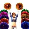 Juego Cheerleader Cheerleading Pom Poms Cheerleading pompones Cheer Pom Majorettes mano flor aeróbic bolas artículos deportivos