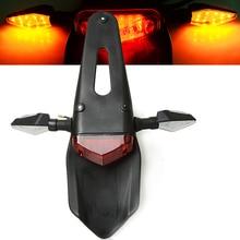 For Honda CRF 450 CR XR XL 85 125 250 500 KTM KAWASAKI Motorcycle Light Trial Bike LED Motorbike Brake Stop Rear Tail