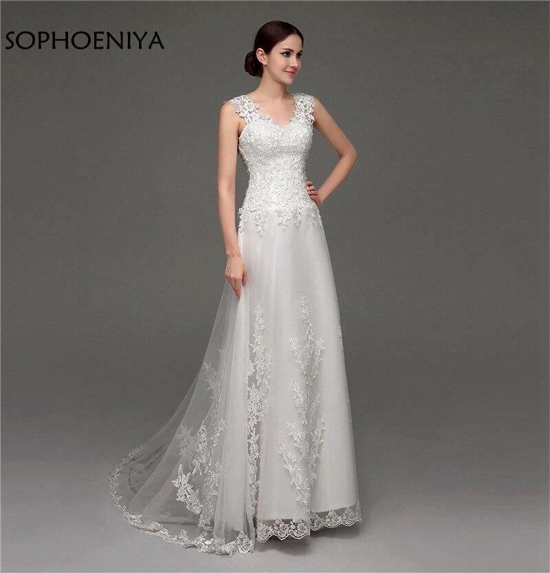 Buy new arrival v neck ivory wedding for Buy back wedding dresses