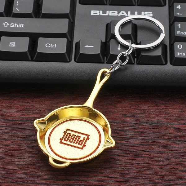 2019 Trò Chơi Mới PUBG Playerunknown của Battlegrounds Cosplay Trang Phục Keychain Chảo Vũ Khí Mô Hình Móc Chìa Khóa Vòng Cổ Mặt Dây Chuyền