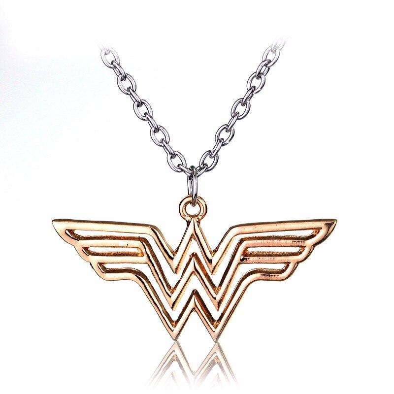 Новое поступление себе ювелирные изделия Wonder Woman DC Super Hero кулон цепи Сталь Hollw Цепочки и ожерелья