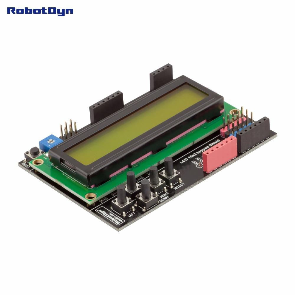 RUSSIAN (Cyrillic) LCD Keypad Shield, 1602 Display, For Arduino LCD Shield GREEN SCREEN