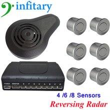 1Set High Quality Car Parking Sensors Kit Display 4/ 6 / 8 Sensors for all cars  human voice alarm prompt Kit Monitor System
