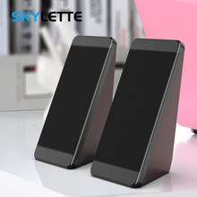 USB Wired Computer Speakers 2 Pieces PC Elevation Angle Horns for Laptop Desktop Phone Audio Speaker Multimedia Loudspeaker(China)