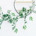 170cm folhas artificiais guirlanda verde salgueiro videira para decoração de casamento casa diy folhas falsas plantas artificiais ivy falso rattan