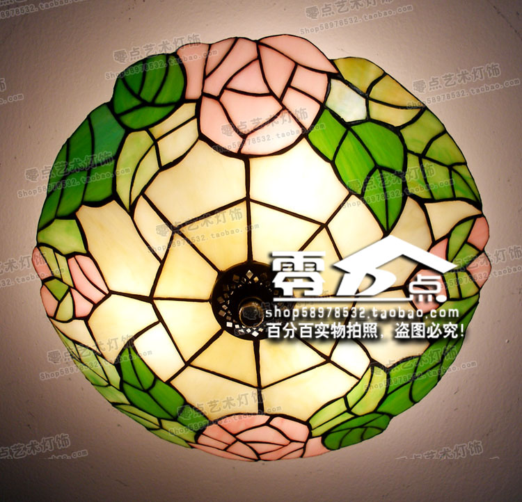 christmas at tiffany s Promotional special s Tiffany light diameter 25cm, 33cm, 41cm Continental rose garden Ceiling lamp freeshipping