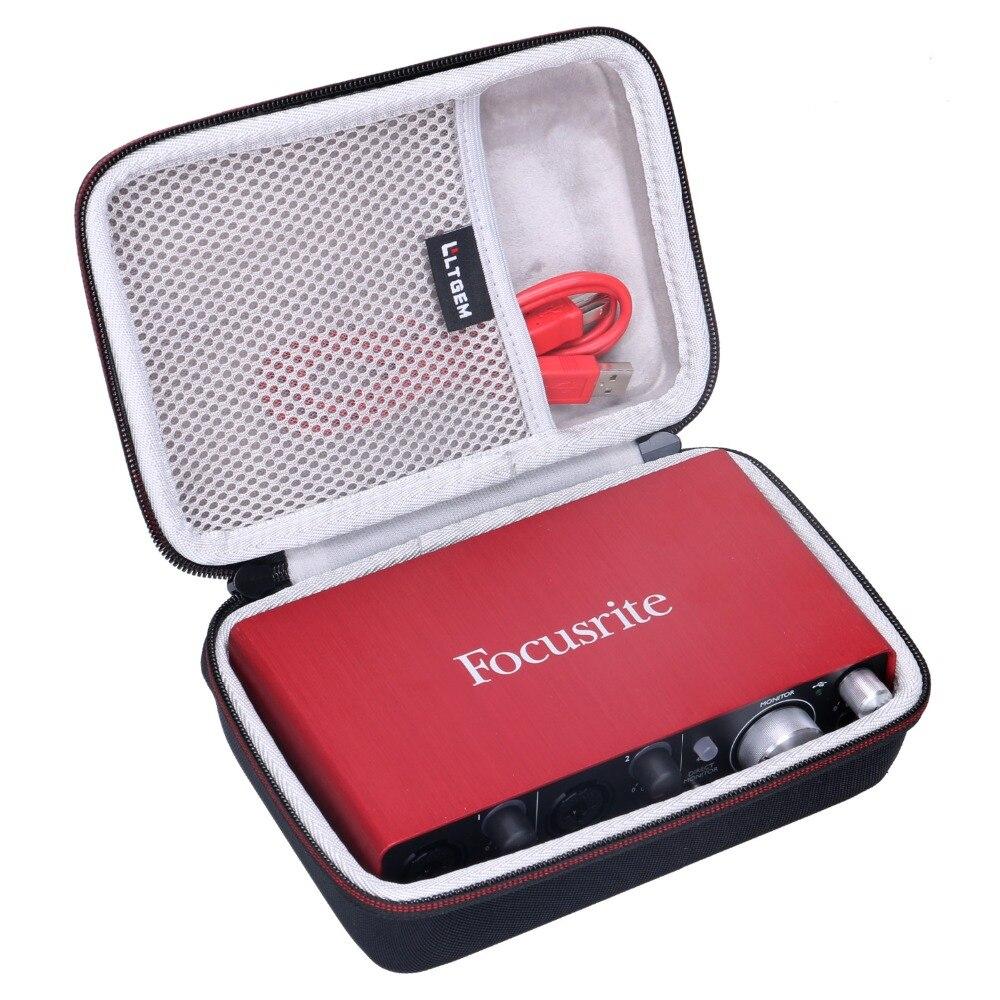 LTGEM EVA Harte Reise Fall für Focusrite Scarlett Solo 2i2 (2nd Gen) USB Audio Interface