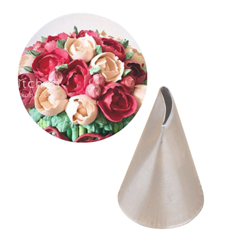 1 piezas Rose Tulip Icing Piping Cake Tips Boquillas de decoración Cupcake Cake Piping Tools