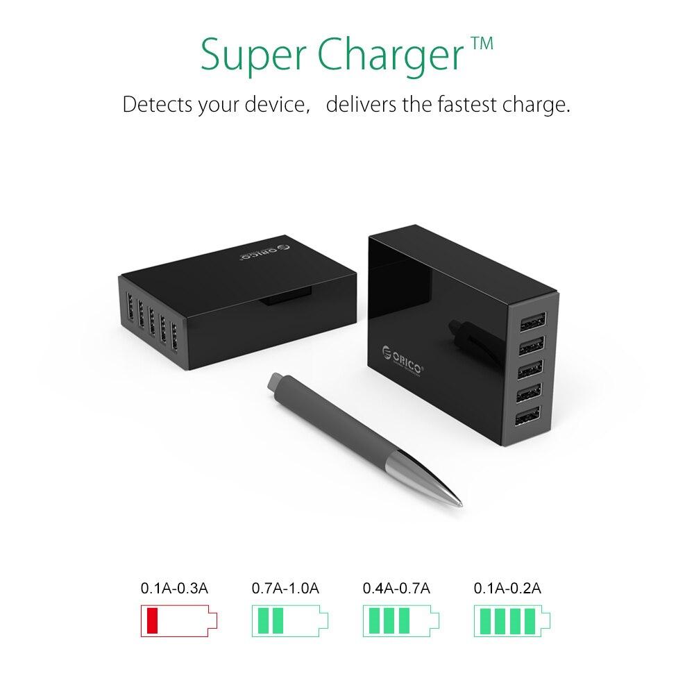 ORICO 5 Ports Desktop-Ladegerät USB-Handy-Ladegerät Reiseladegerät - Handy-Zubehör und Ersatzteile - Foto 2