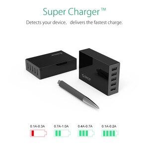 Image 2 - Настольное зарядное устройство ORICO, 5 портов, USB, мобильный телефон, зарядное устройство для путешествий, зарядное устройство для iPhone, Samsung, Xiaomi, EU, US, UK, настольное зарядное устройство