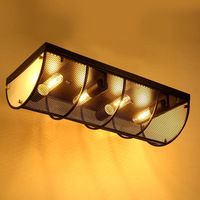 Retro Industrial Loft Nordic Wrought Iron Ceiling Light Lustre Lamps For Home Decor Restaurant Dinning Room