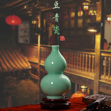 Jingdezhen ceramics shadow celadon vase Antique Vase Decoration Home Furnishing pea green living room decoration