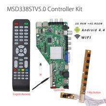 1G RAM + 4G chambre MSD338STV5.0 carte de pilote de télévision réseau sans fil intelligent carte de LED de contrôle LCD universelle pour Android WI FI ATV