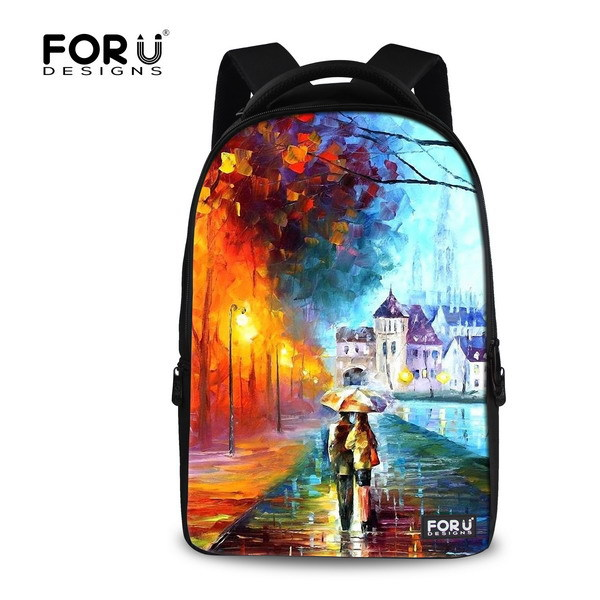 ФОТО Fashion 15.6 inch Printing Women Travel Backpack 3D Children Painting Backpacks,Large Computer Laptop Backpack for School girls
