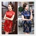 Freeshipping 2017 новое прибытие китайский традиционный платье халат вечер courte tangzhuang qipao платье cheongsam tavas продвижение продажа