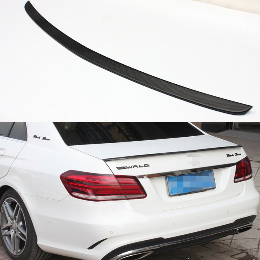 AMG Style Mercedes W212 Matt black Carbon Fiber Trunk Spoiler Wing for Benz W212 Sedan e200 e250 e260 e63 2014~2015 цена