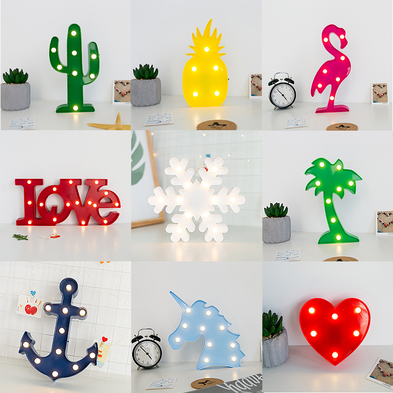 Flamingo Unicorn Novelty LED 3D Desk Table Night Light Kids Gift Children's Bedroom Lamp Party Holiday Christmas Lighting Decor
