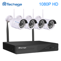 4CH 1080P Wireless Nvr Kit P2P Onvif 4pcs WIFI IP Camera Outdoor Waterproof 2 0MP CCTV