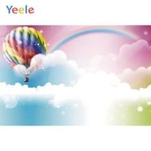 Yeele arc en ciel ciel nuages ballons à Air chaud Portrait arrière plans photographiques personnalisés arrière plans de photographie pour Studio de Photo