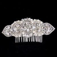 Braut Haarschmuck vintage hochzeit perle kamm kristall kämme strass leiter stück kopfschmuck für bräute schmuck zubehör
