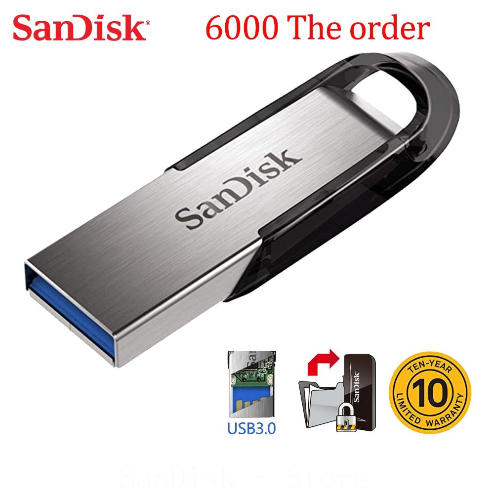 Sandisk 100% Original Genuine Ultra Flair USB 3.0 Flash Drive 16GB 32GB 64GB 128GB Pen Drive 16GB High Speed 32GB Memory Stick
