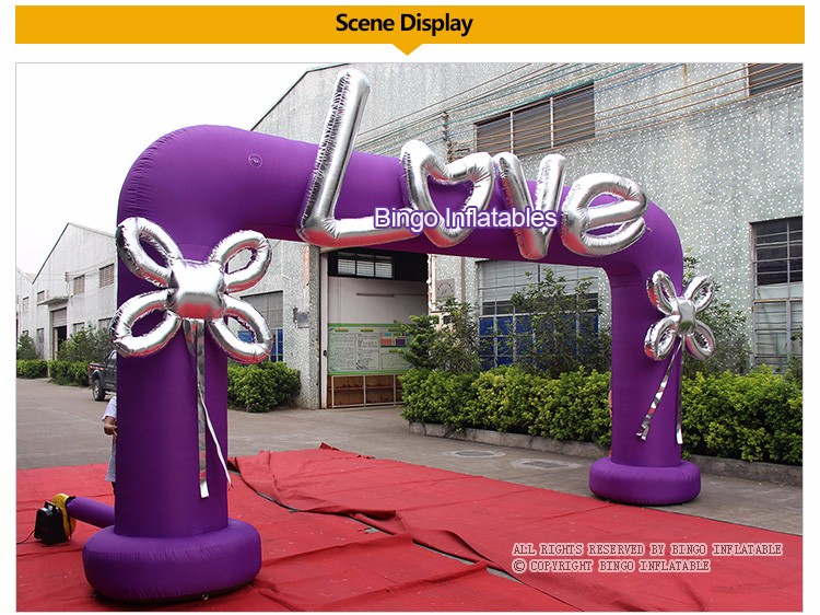 BINGO inflatable wedding arch (2)