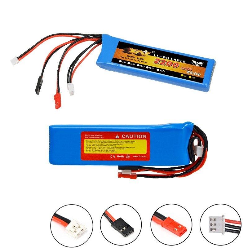 Batería Lipo Rc 7,4 V 2200mah 8C 2S, batería Lipo para Futaba T6J T8FG 12FG, transmisor para Dron RC ISDT Q8 MAX 1000W 30A / Q8 500W 20A 2-8S / Q6 Nano 200W 8A 1-6S cargador de equilibrio de batería para Lilon LiPo LiHV NiMH Pb RC modelos