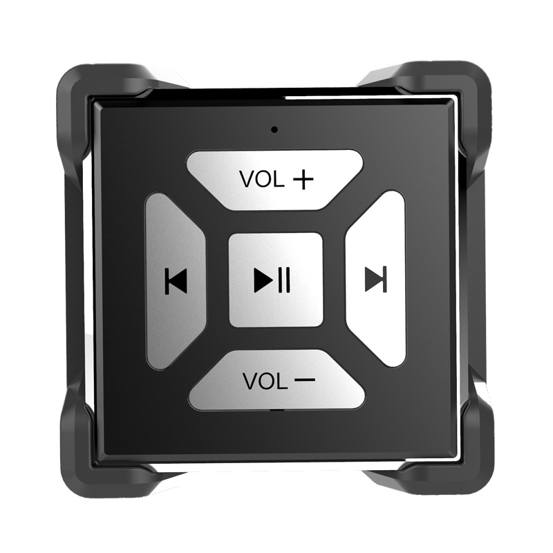 Car Motorcycle Bike Bluetooth Hands-free Car Kit MP3 Media Remote Selfie Button FM Transmitter Steering Wheel Remote Control