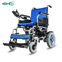 Cofoe Medical Equipment Power Folding Portable Electric A6 12A 20A Folding Portable Lightweight Small Wheel Wheelchair