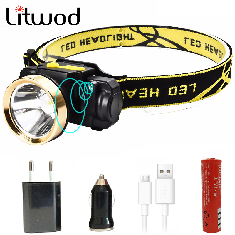Litwod z35 rechargeable Mini Headlight Outdoor Camping Inductive Flashlight Head Torch lamp LED Body Motion Sensor Headlamp