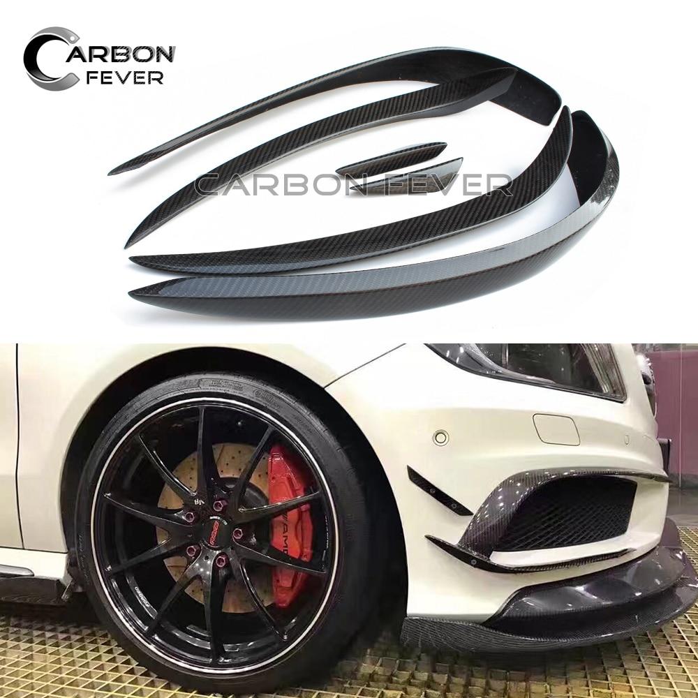 A Class Carbon Fiber Front Bumper Canards For Mercedes W176 2012 - 2015 A45 A180 A200 A250 Sport Edition