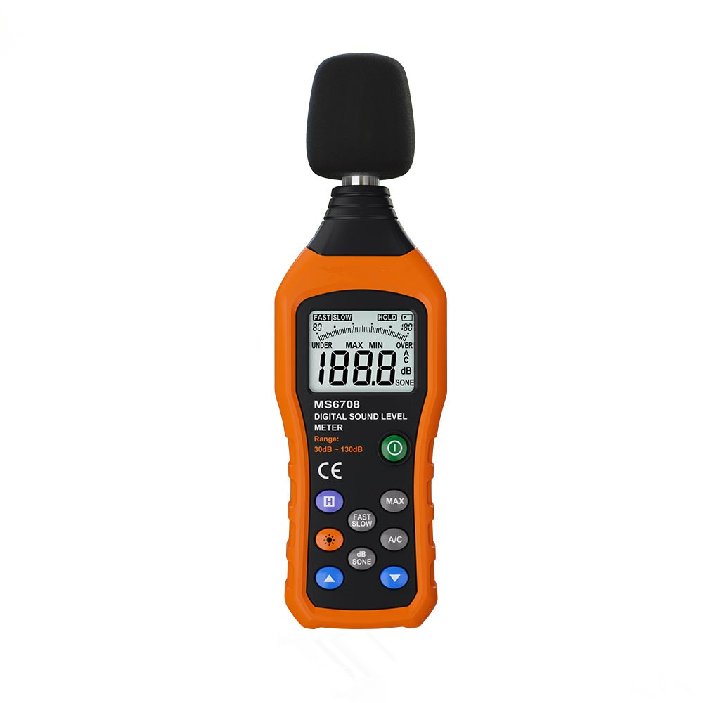 Hot Sale Professional Digital Sound Level Meter High precision Noise Monitor Portable Handheld Measuring 30-130 dB Instrument uyigao ua506 brand new handheld portable meter for ppm htv digital formaldehyde test methanol concentration monitor detector w