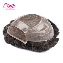 Высокое качество швейцарский кружевной перед с тонкой моно мужской парик Versalte бренд, передний кружевной парик, замена волос