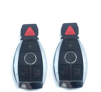 3+1 Buttons New Replacement Modified Smart Remote Key Shell Case For Benz C200 S320 S600 With Key Blade And Battery Holder image