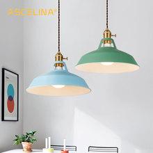 2 piezas de luz colgante, lámpara colgante moderna, luminaria de múltiples colores, lámpara colgante para Loft, interruptores con perilla, base E27, para el hogar y la tienda