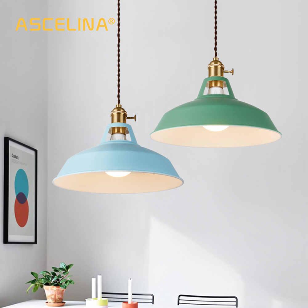 2 шт. подвесной светильник, Современная Подвесная лампа, несколько цветов светильника, Лофт подвесной светильник, ручки регулировки, Цоколь E27, для дома и магазина
