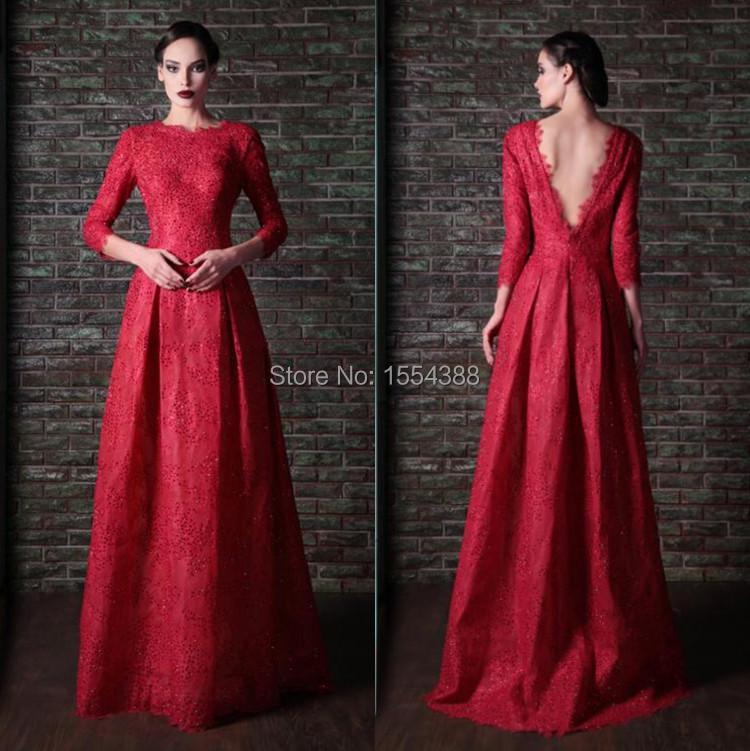 Online Get Cheap Dark Red Lace Prom Dresses -Aliexpress.com ...
