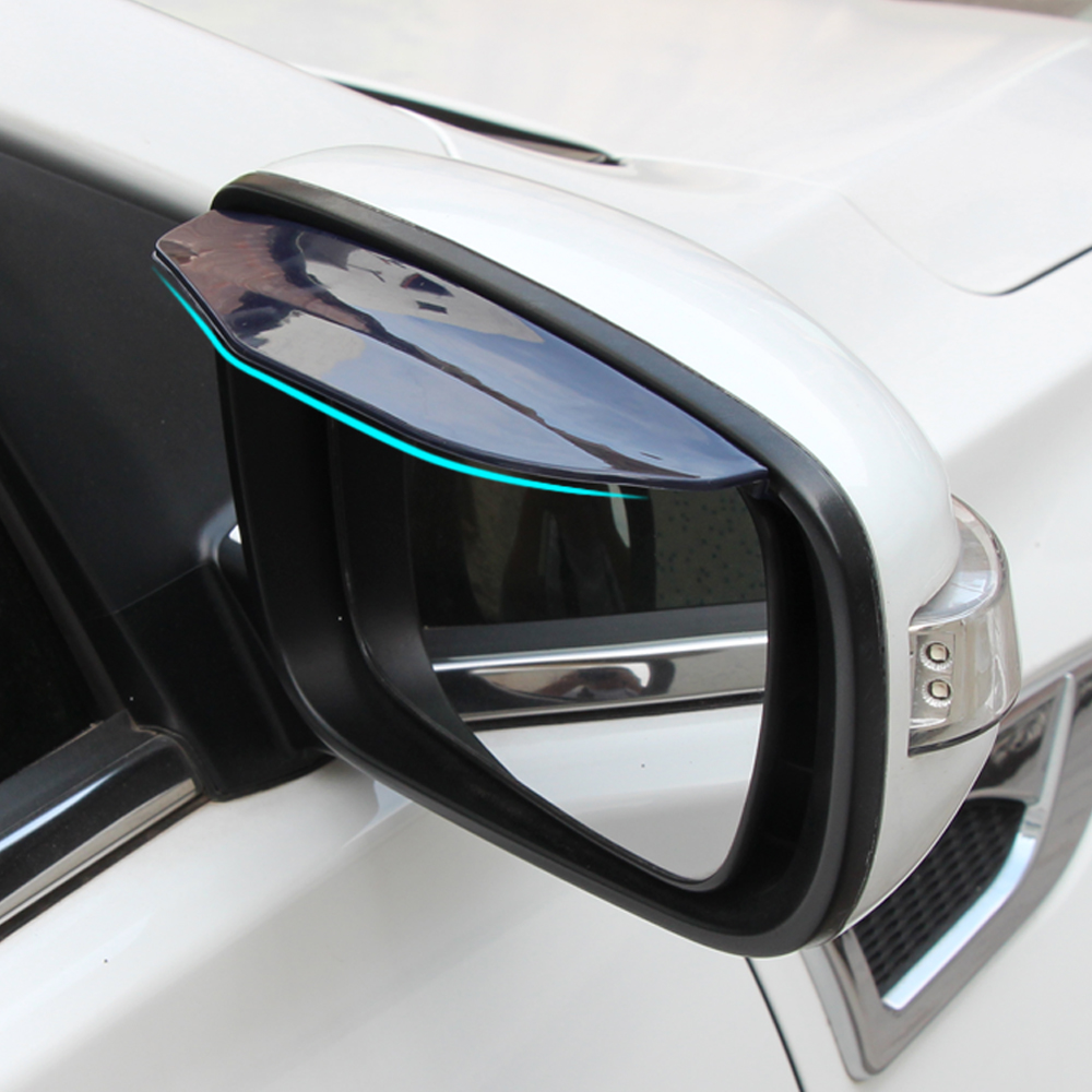 2 pcslot Car Rear view Mirror sticker rain eyebrow for Volvo xc60 xc90 xc70 s40 s60 s80 v40 v50 v60 v70 accessories
