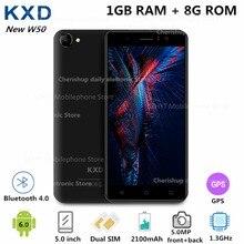 Original KENXINDA W50 5 Inch 3G Smartphone MTK6580 Quad Core 1.3GHz 1GB RAM 8GB ROM 5MP Dual Camera WiFi Mobile Phone GPS