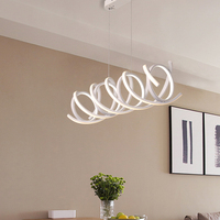 Chandelierrec Modern Spiral LED Pendant Lights For living Room Bedroom Decor Lighting Fixtures AC90~265V Hanging Pendant Lamp