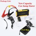 Best 12V Car Emergency 16000mAh Jump Starter 600A Peak Car Battery Charger Mini 4USB Power Bank SOS Light Mini Compass Free Ship
