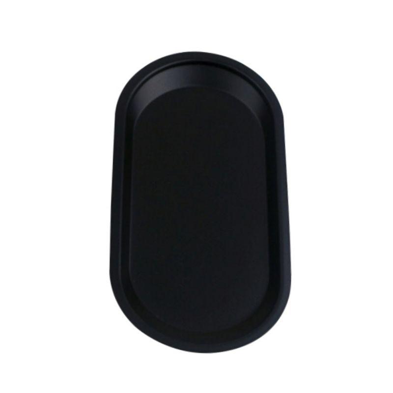 Тарелки, подносы, бытовые, надписи, винтаж, черный, нержавеющая сталь, кухонные принадлежности, реквизит для фотосессии, ювелирные изделия - Цвет: Solid color small si
