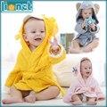 Brand Designer Soft Flannel Kids Bathrobe Kawaii Boy Girls Pajamas Cute Warm Animal Children's Hooded Robes For 0-12 Months Baby