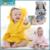 Marca Designer Suave Flanela Roupão de banho para Crianças Kawaii Animais das Crianças Das Meninas do Menino Pijama Bonito Quente Robes Com Capuz Para 0-12 Meses Do Bebê