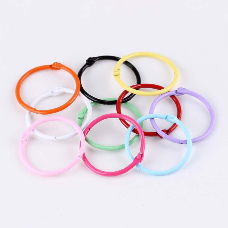 45mm Metal Keyring Handmade DIY Accessory Fittings Accessories Pendant Connection Ring Pack Of 6pcs