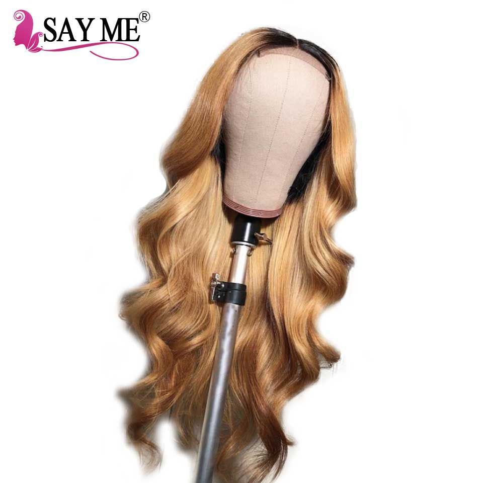 Ombre Human Hair Lace Lront Wigs Black Women Body Wave Wig Pre Plucked Hairline With Baby