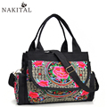 Embroidery Bags Women New Fashion Retro Bag Handmade Portable Single Shoulderbag Floral Pattern Handbags