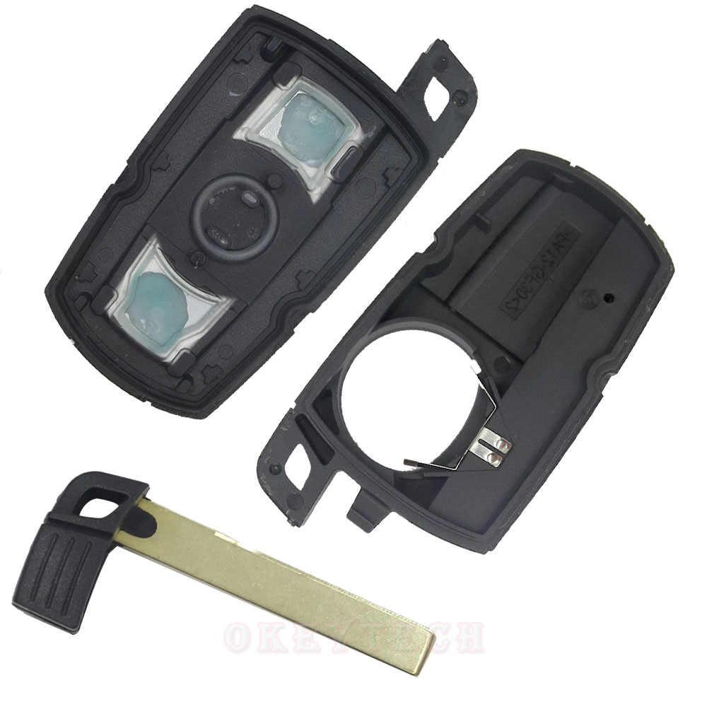Пульт дистанционного управления Управление Автомобильный ключ чехол для BMW 1 3 5 6 серии E90 E91 E92 E60 3 кнопки, необработанное лезвие смарт запасной чехол для ключа кейс для брелока